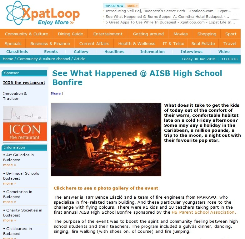 AISB Bonfire Night